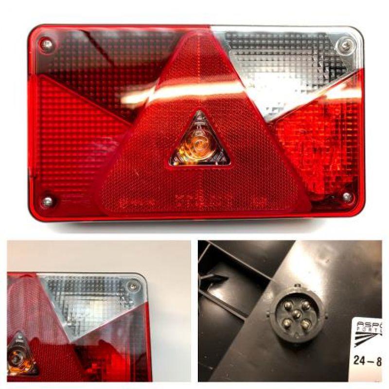 Baglygte Aspöck Multipoint 5 Del LED Højre