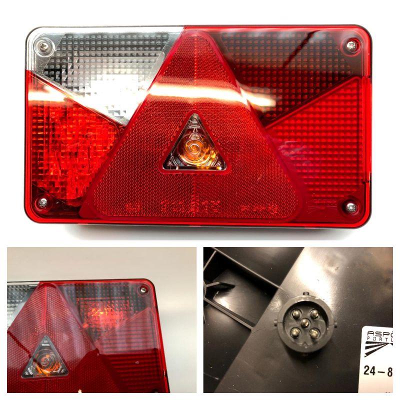 Baglygte Aspöck Multipoint 5 Del LED Venstre