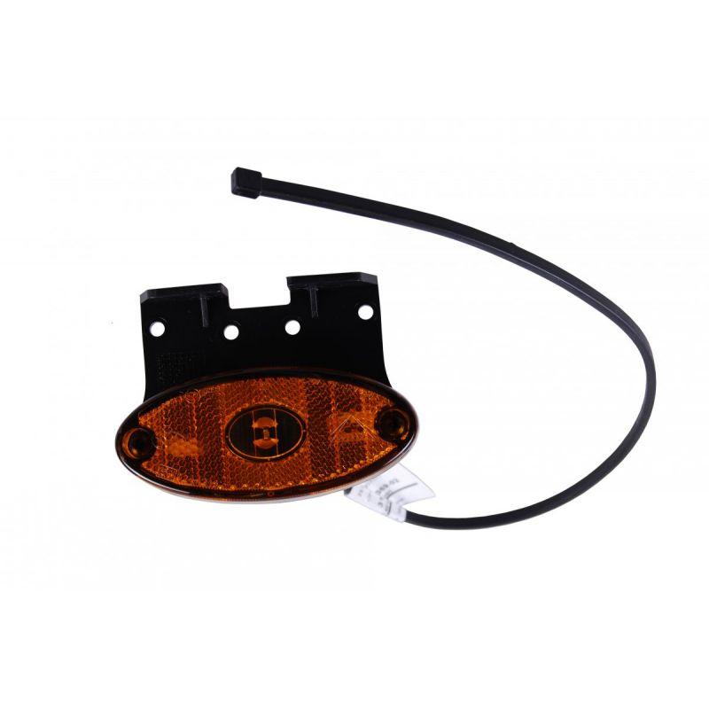 Aspöck Sidemarkeringslygte Flatpoint LED Med Vinkelbeslag