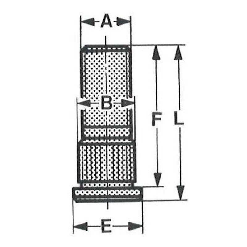 Riffelbolt – M12 X 1,5 X 36