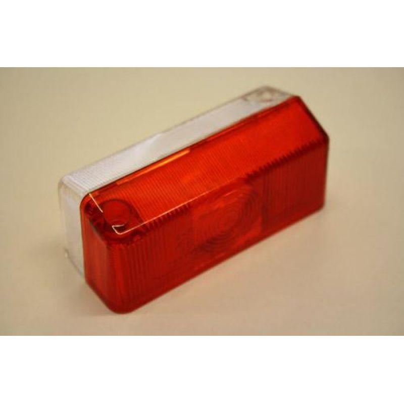 Markeringslygteglas – Radex 925, Rød/Hvid