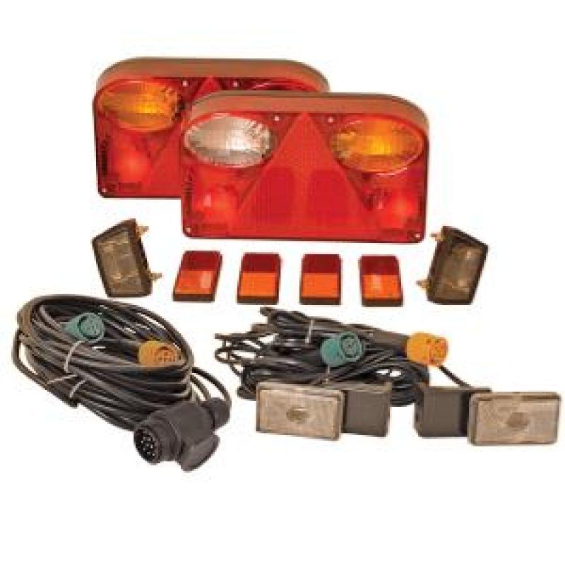 Belysningssystem 12V Komplet Lygtesæt