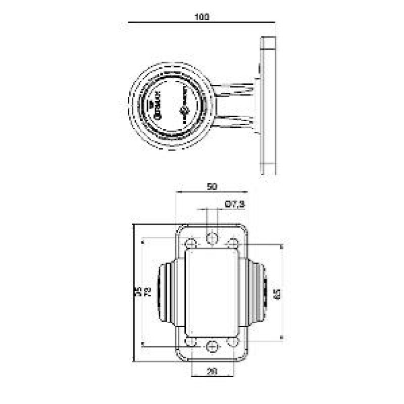 Ermax Slingrelygte LED 12/24v